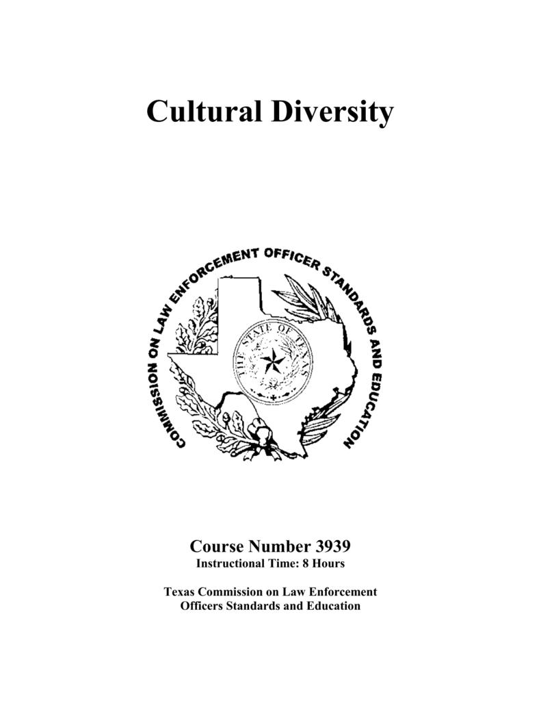 Cultural Diversity TCLEOSE 3939