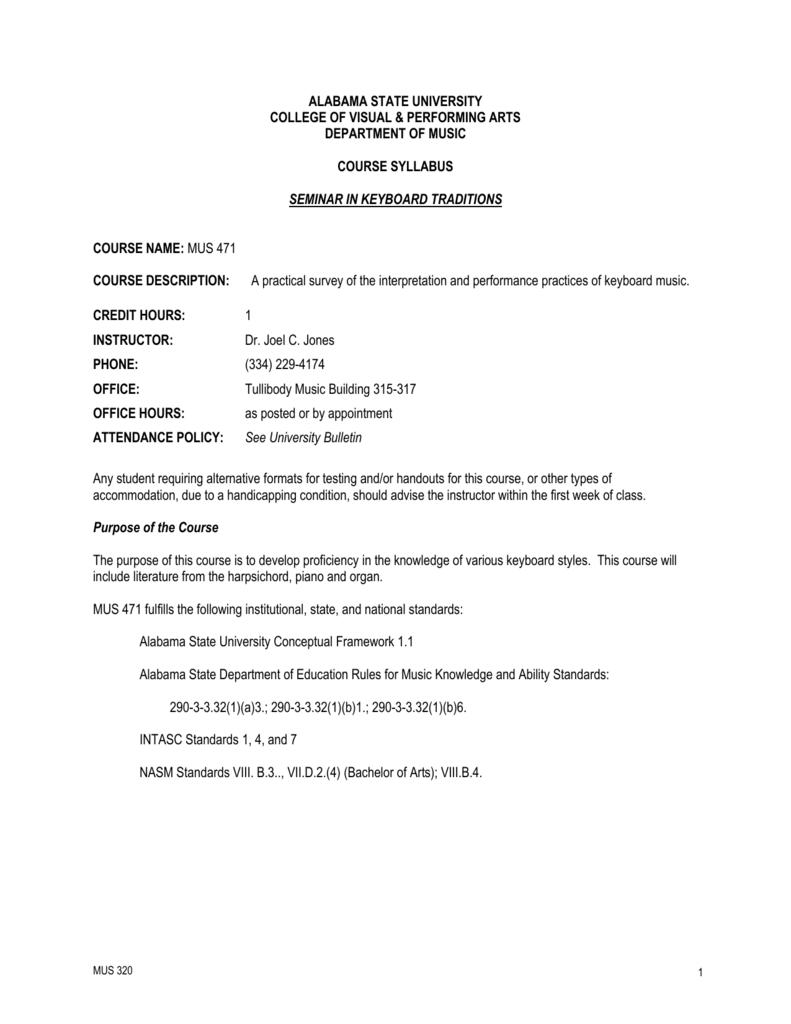 medium resolution of MUS471 - Alabama State University