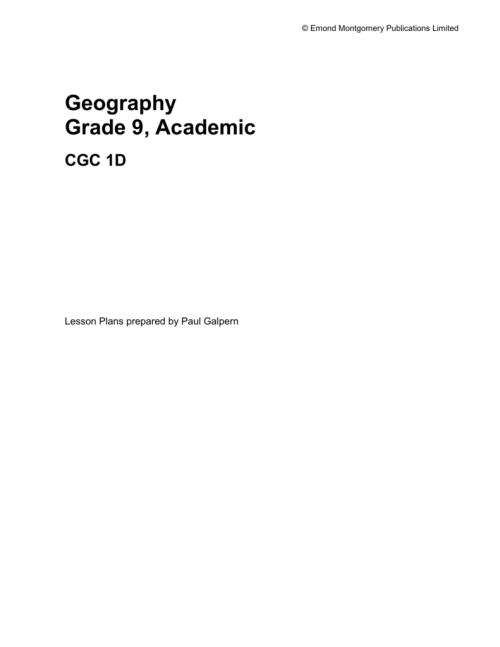 small resolution of Emond Montgomery Publications Limited Geography Grade 9