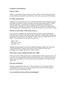 Vark Questionnaire