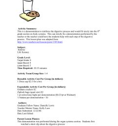 Digestion Lesson Plan [ 1024 x 791 Pixel ]