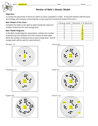 Bohr Model Worksheet Answers - Calleveryonedaveday