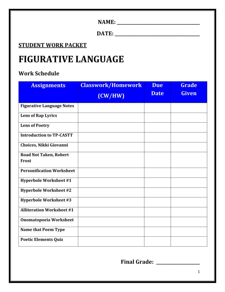 medium resolution of Figurative Language - Montgomery County Schools