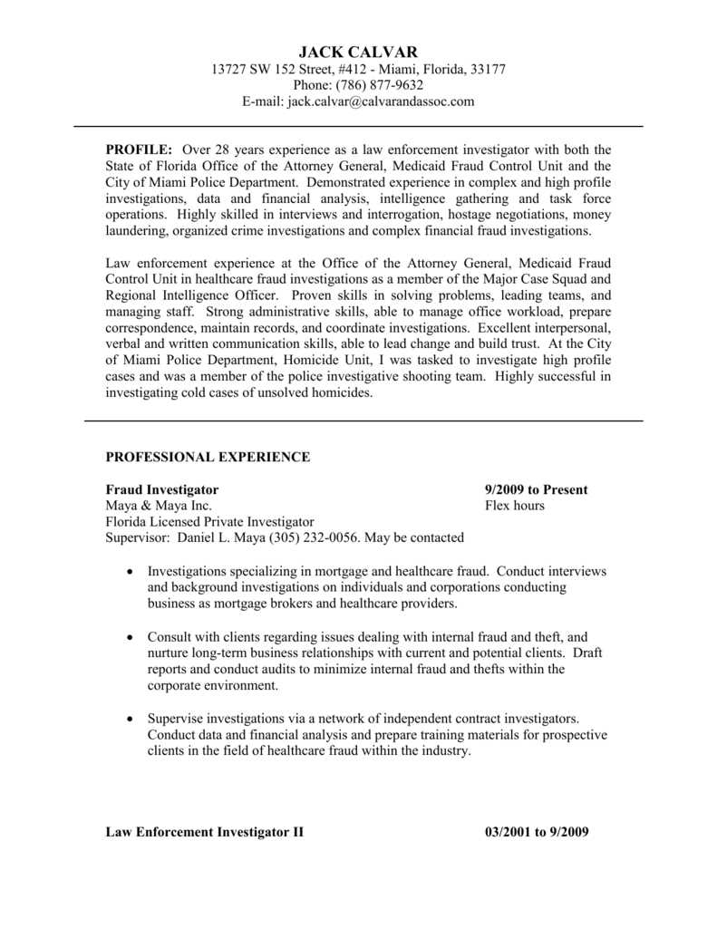 Field Investigator Cover Letter | Nice Best Compliance Officer ...