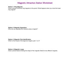 Magnetic Attraction Worksheet [ 1024 x 791 Pixel ]