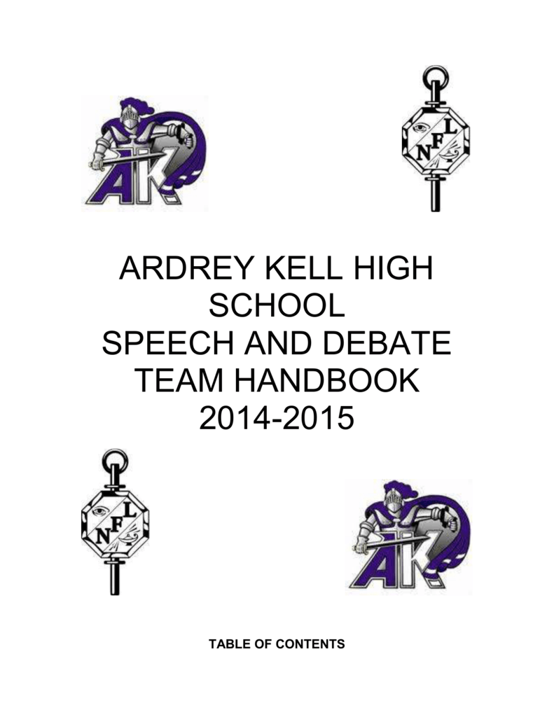 ARDREY KELL HIGH SCHOOL SPEECH AND DEBATE TEAM