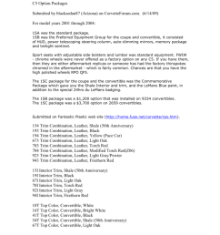 c5 option packages submitted by blacksedan87 arizona on corvetteforum com 6 14 09 for model years 2001 through 2004 1sa was the standard package  [ 791 x 1024 Pixel ]