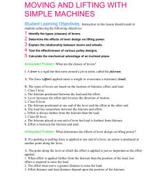 psaa simple machines worksheet [ 1024 x 791 Pixel ]