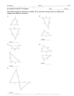 Geometry 73 Worksheet Answers Similar Triangles