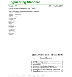 engineering standard saes j 005 29 february 2004 instrumentation drawings and forms instrumentation standards committee members al awami  [ 791 x 1024 Pixel ]