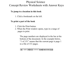 Physical Science Concept Review Worksheets with Answer Keys [ 1024 x 791 Pixel ]