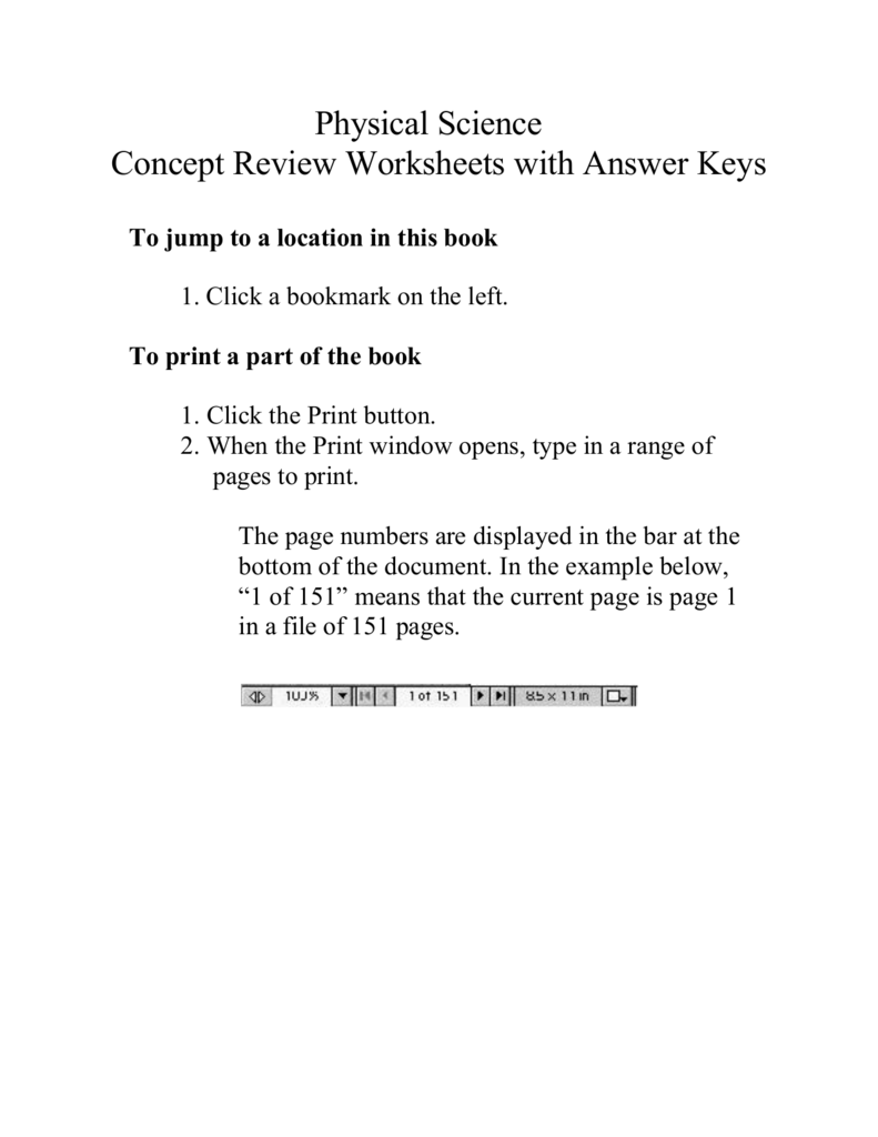 medium resolution of Physical Science Concept Review Worksheets with Answer Keys