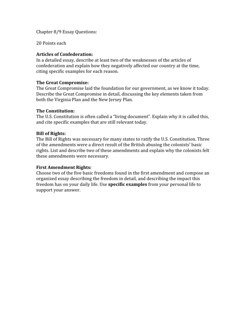 First Amendment Essay Questions  Mistyhamel The First Amendment Essay Poemdoc Or