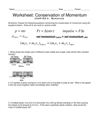 worksheet. Conservation Of Momentum Worksheet Answers ...