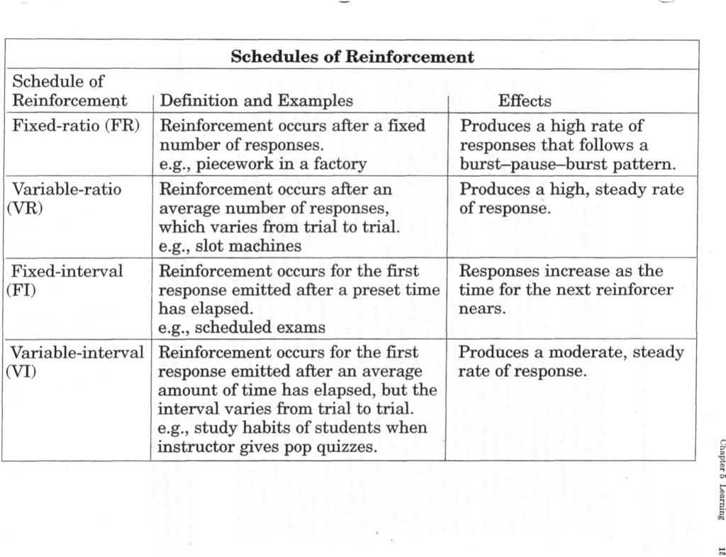 Schedule Of Reinforcement Definition And Examples Effects