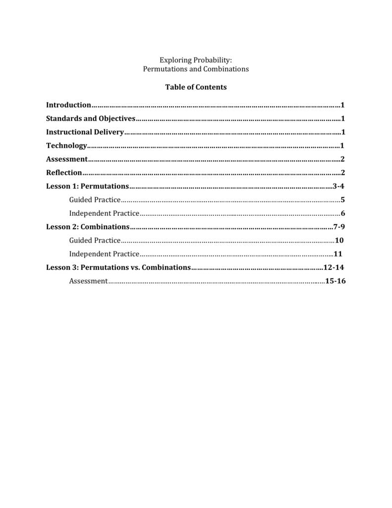 medium resolution of Permutations and Combinations
