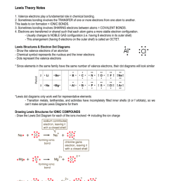 lewis structure worksheet lewis theory notes 1 valence electrons play a fundamental role in chemical bonding 2 sometimes bonding involves the transfer of  [ 791 x 1024 Pixel ]