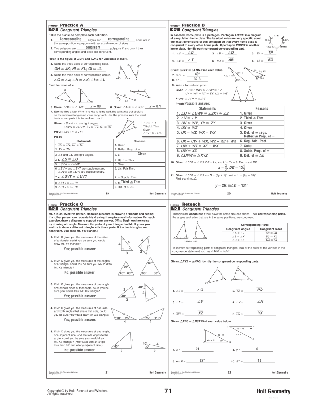 medium resolution of 34 Geometry Worksheet Congruent Triangles Answer Key - Worksheet Project  List