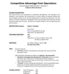 competitive advantage from operations course syllabus cor1 gb 2314 summer ii subject to minor revisions course description this course serves as an  [ 791 x 1024 Pixel ]