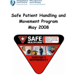 Wrha Safe Patient Handling And Movement Program