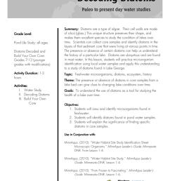 Decoding Diatoms Lesson Plan [ 1024 x 791 Pixel ]