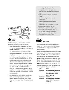 ELA Vocabulary Development