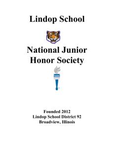 BCMA National Junior Honor Society Application Packet