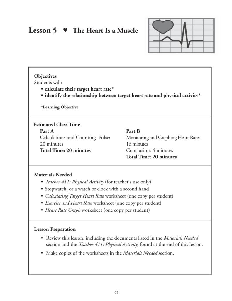 hight resolution of Target Heart Rate Worksheet - Nidecmege