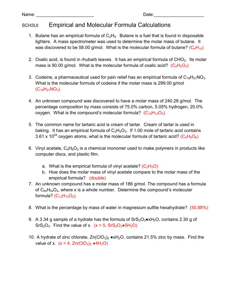 worksheet. Empirical Formula Worksheet Answers. Grass
