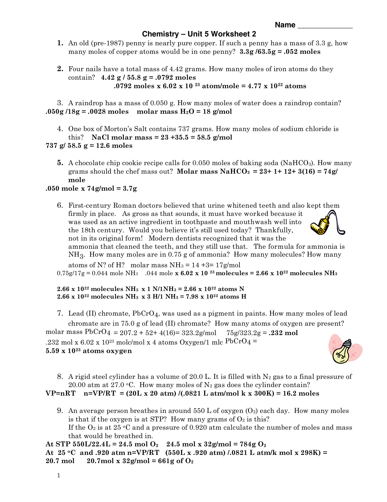 30 Chemistry Unit 1 Worksheet 3 Mass Volume And Density