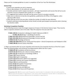 Four Year Plan Worksheet – Guidelines [ 1024 x 791 Pixel ]