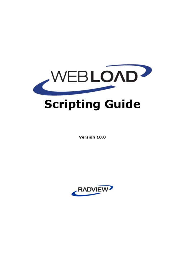 WebLOAD Scripting Guide