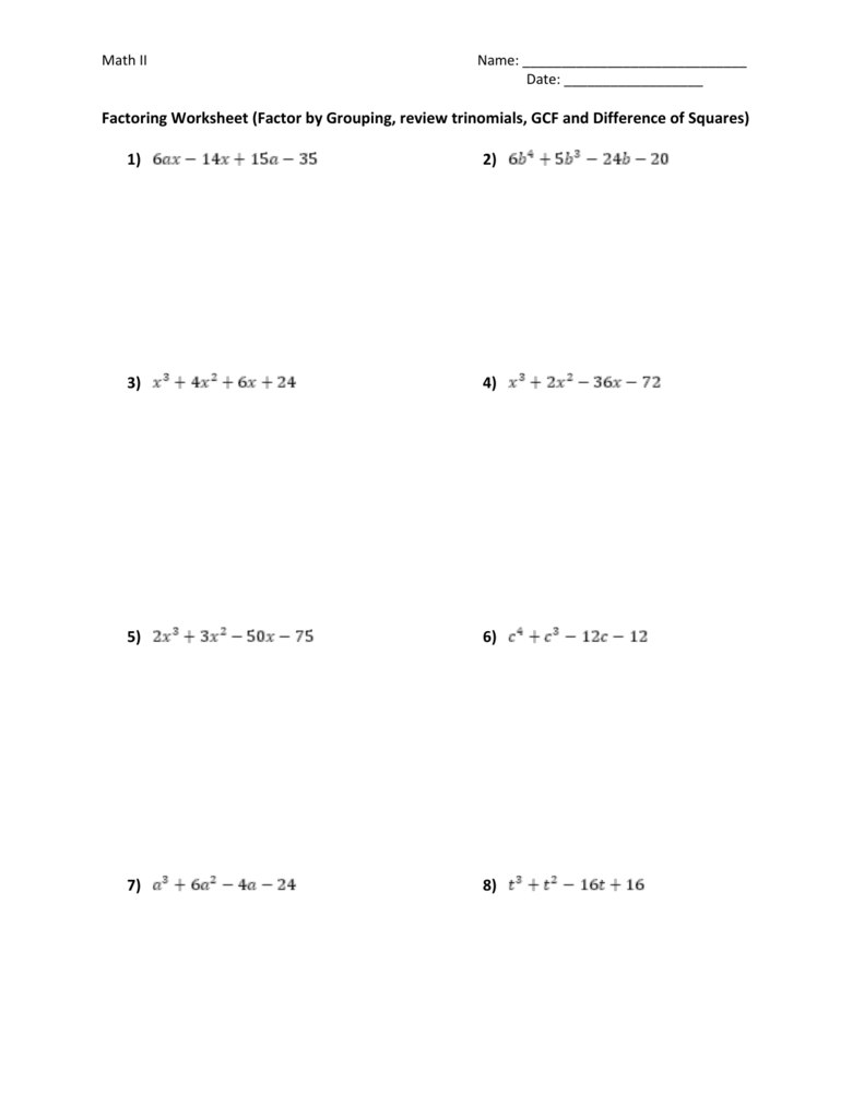 Worksheet Factoring Trinomials A 1 Answers Key : worksheet, factoring, trinomials, answers, Worksheet, Factoring, Trinomials, Answers, Promotiontablecovers