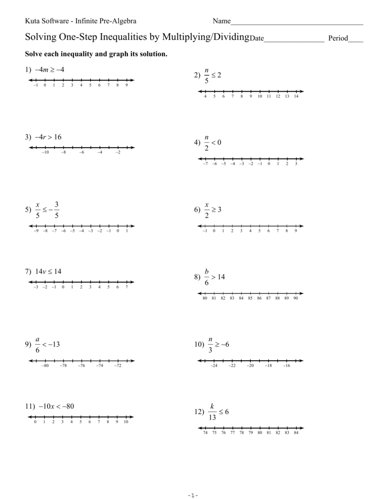 medium resolution of 31 Solving And Graphing One Step Inequalities Worksheet - Free Worksheet  Spreadsheet