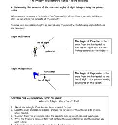 Trig Word Problems Worksheet Key - Nidecmege [ 1024 x 791 Pixel ]