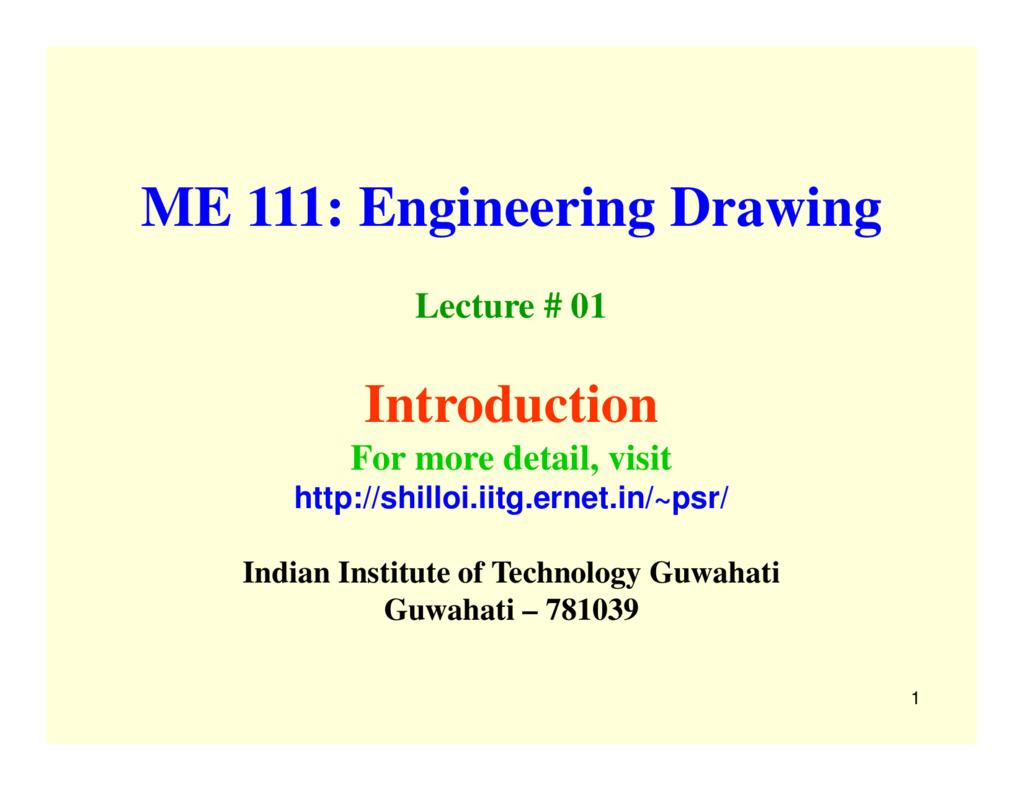 ME 111 Engineering Drawing