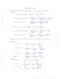 Nuclear Chemistry Review Questions