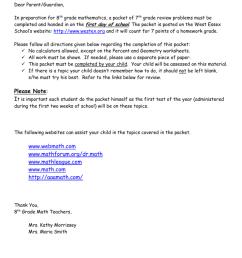 8th Grade Math Summer Packet Please Note: www.webmath.com [ 1024 x 791 Pixel ]