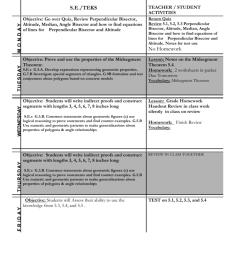 COURSE: Regular Geometry Homework Calendar TEACHER [ 1024 x 791 Pixel ]