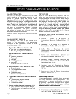 DSST® ASTRONOMY EXAM INFORMATION