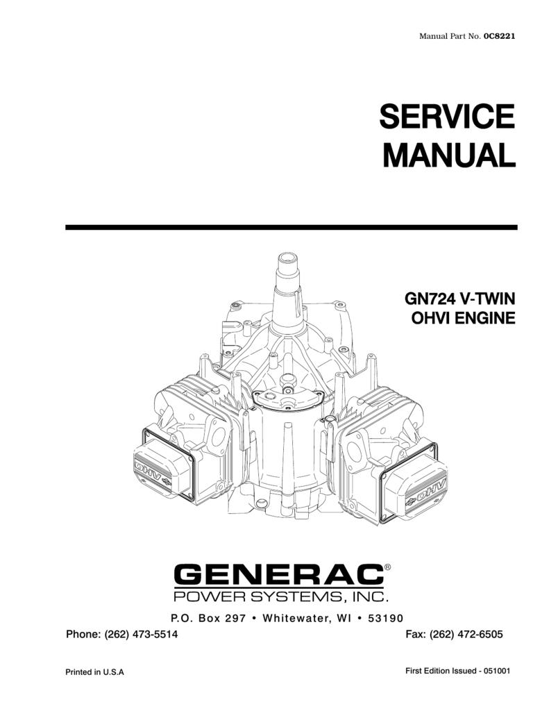 medium resolution of manual part no 0c8221 service manual gn724 v t twin ohvi engine p o b o x 2 9 7 w h i t e w a t e r
