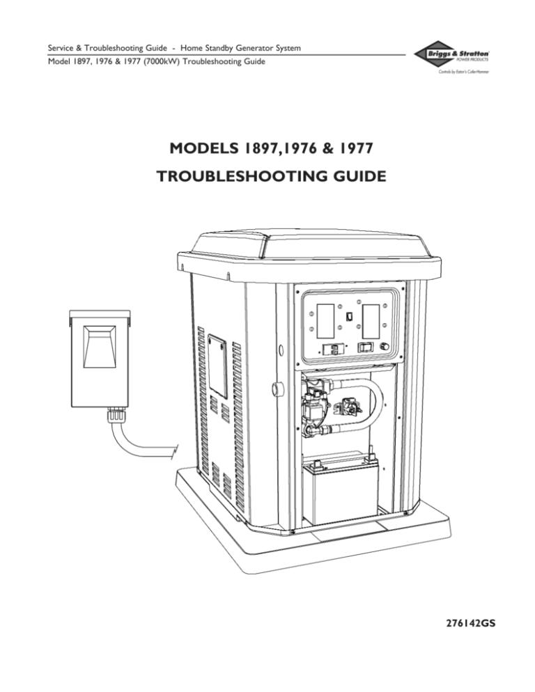 Briggs & Stratton 1897, 1976, 1977 7kW Service Manual
