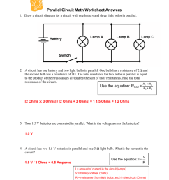 parallel circuit math worksheet answers light parallel circuit diagram in addition series and parallel wiring [ 791 x 1024 Pixel ]