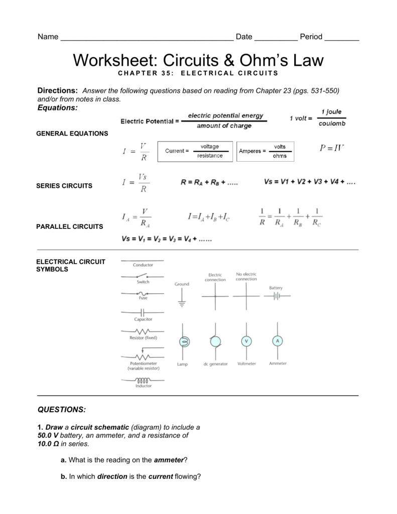 medium resolution of circuit diagram with ammeter