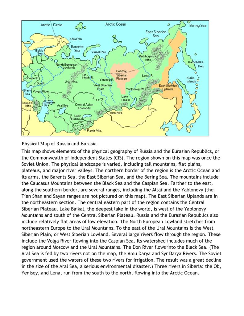 Russia And Eurasian Republics Map : russia, eurasian, republics, Russia, Eurasian, Republics, World, Atlas