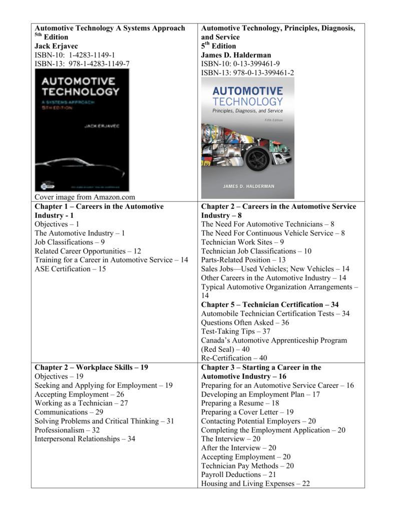 Automotive Technology A Systems Approach 5th Edition Jack