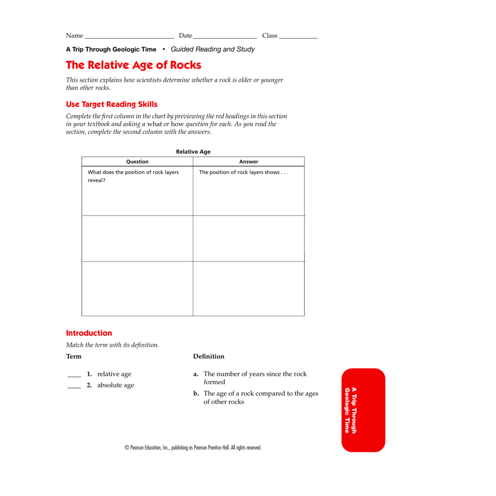 Worksheet Pearson Education Inc Publishing As Pearson Prentice Hall Worksheets Answers