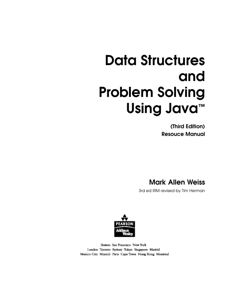 Data Structures Algorithms In Java Weiss Solution Manual