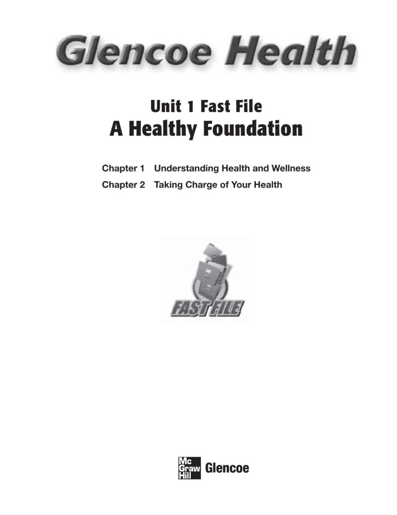 Chapter 2 Taking Charge Of Your Health : chapter, taking, charge, health, Healthy, Foundation