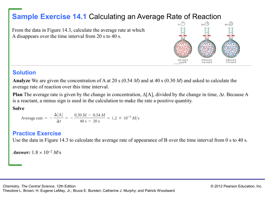 Sample Exercise 14 1 Calculating An Average
